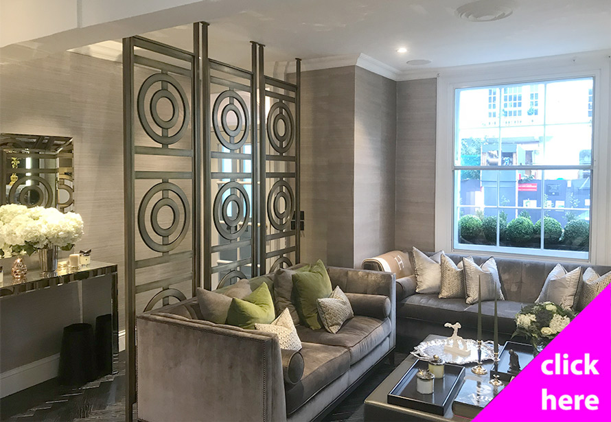 Decorative brass room dividers and partition