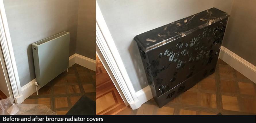 Bronze marble radiator covers