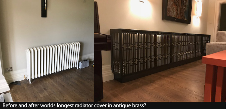 antique brass cover and console table