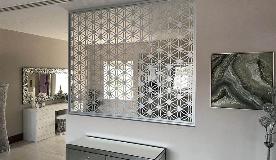 Decorative bedroom screens and dividers