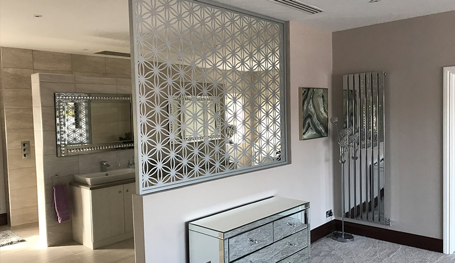 Custom Flower of Life room dividers