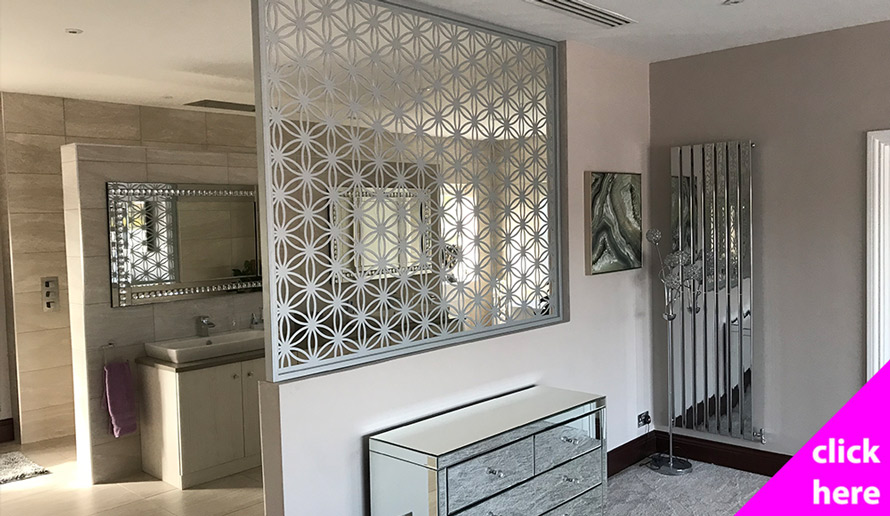 Flower of life room partitions