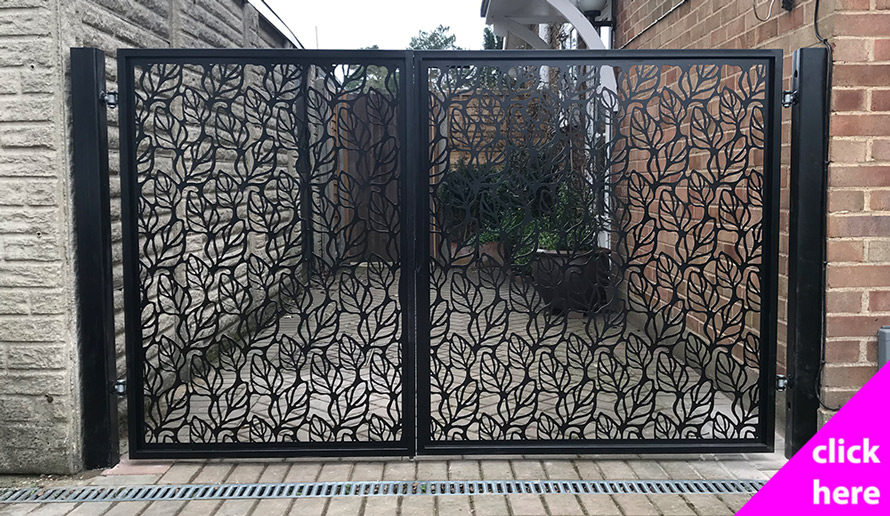 Custom made laser cut gates
