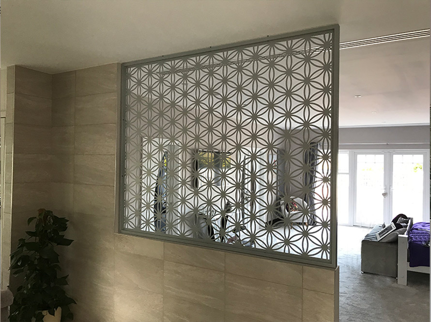 Custom made flower of life screen