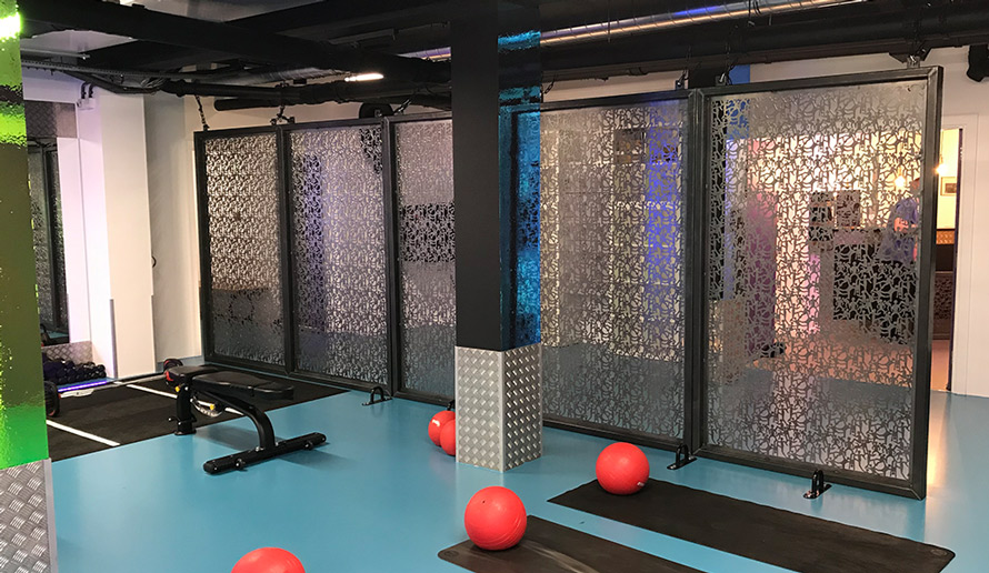 contemporary metal room partitions