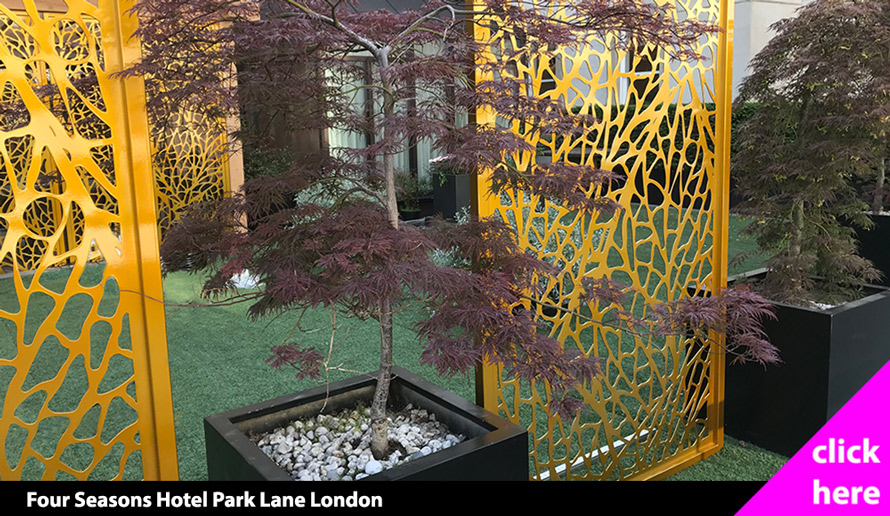 Fretwork screens Four Seasons Hotel London