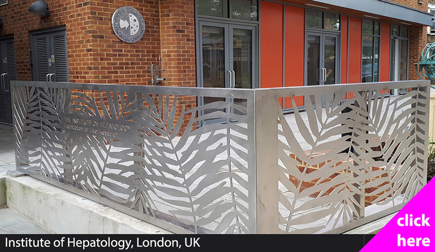 stainless steek fretwork fencing London