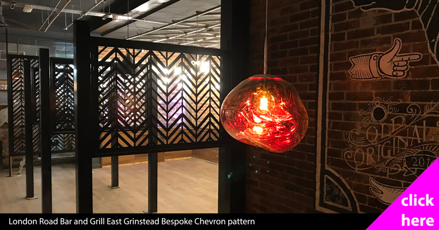 London Road Bar and Grill bespoke Chevron pattern