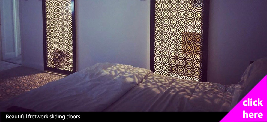 decorative fretwork sliding doors bedroom