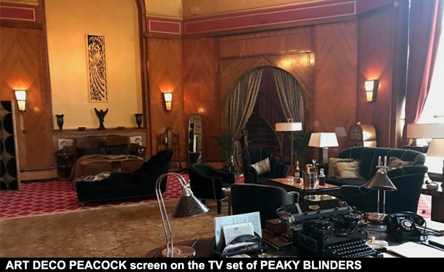 ART DECO CASAREVO screen for Peaky Blinders TV set