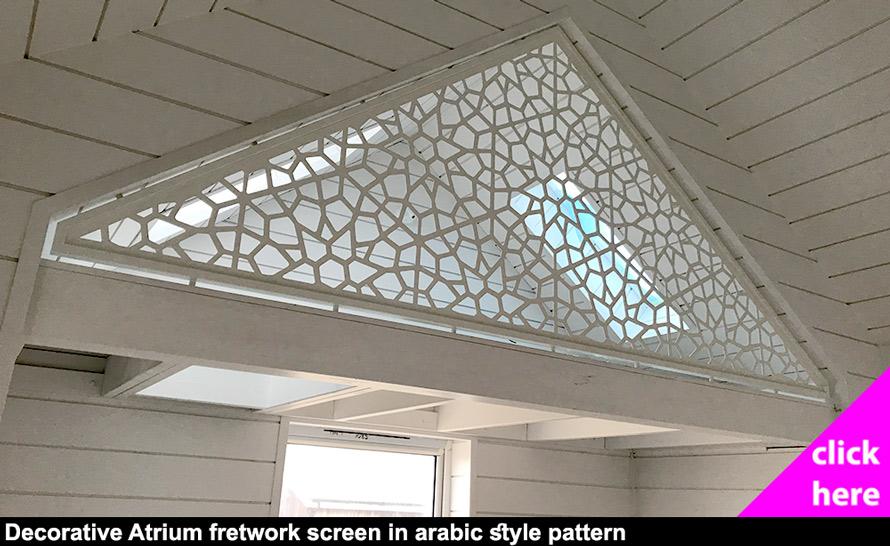 Decorative arabic style fretwork attic infill