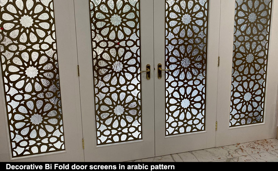Decorative arabic fretwork window panels