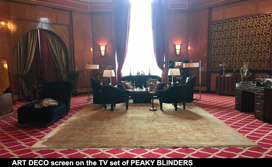Peaky Blinders art deco CASAREVO screens and wall art