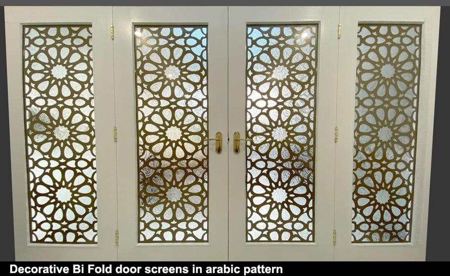 Decorative arabic fretwork window screens