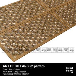Art Deco Fans MDF Fretwork Panels
