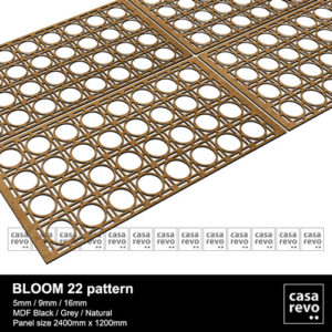 Bloom 22 mdf fretwork panels casarevo