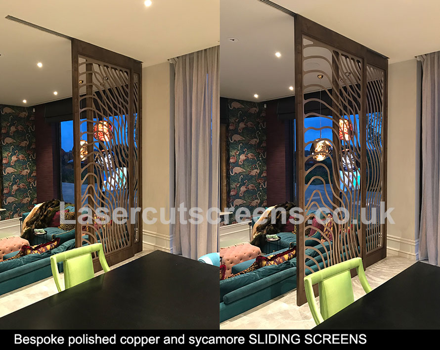 custom made luxury copper room dividers