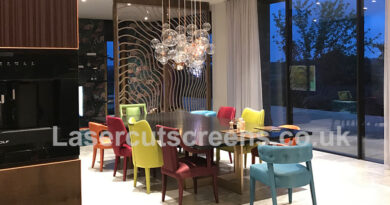 Luxury rose gold sliding room dividers