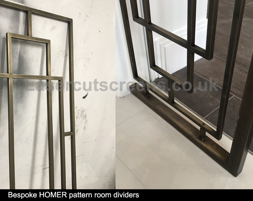 antique brass room divider patinated brass