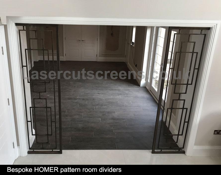 antique brass room divider for entrance halls