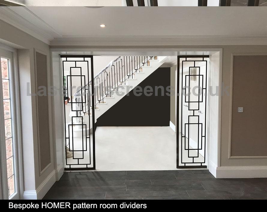 brass room divider patinated brass