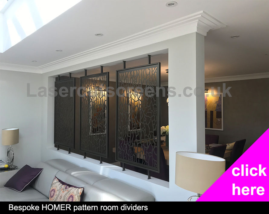 Bronze Homer room partitions