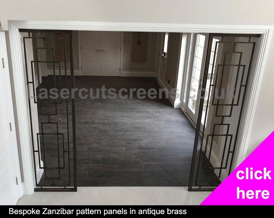 Antique Brass Zanzibar room divider