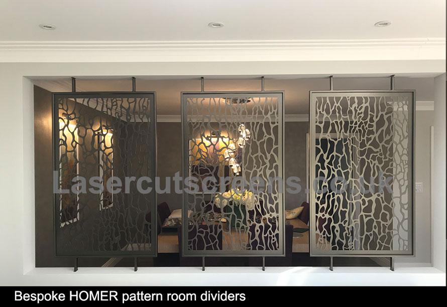 custom made bronze room partition