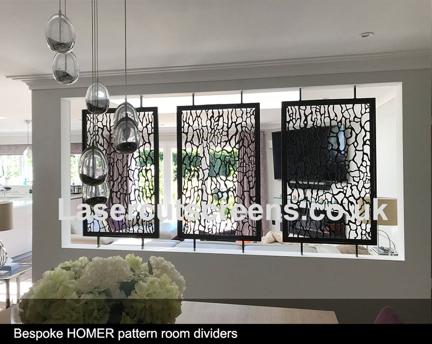 custom made bronze room divider