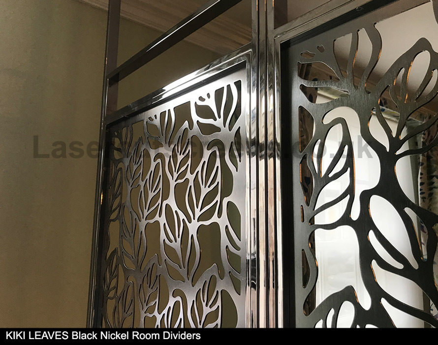 Black Nickel room dividers by Laser Cut Screens