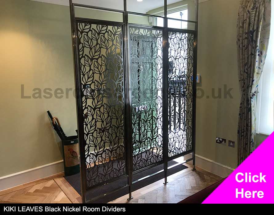 KIKI Leaves Black Nickel custom room dividers