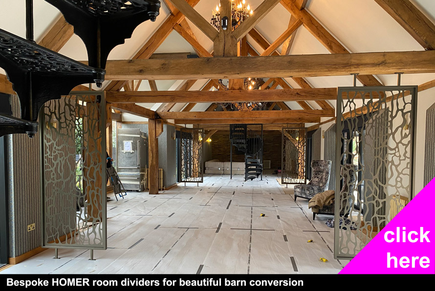 Bespoke Room partitions for barn conversion