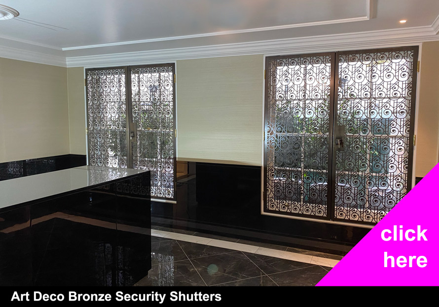 Decorative art deco security shutter designs