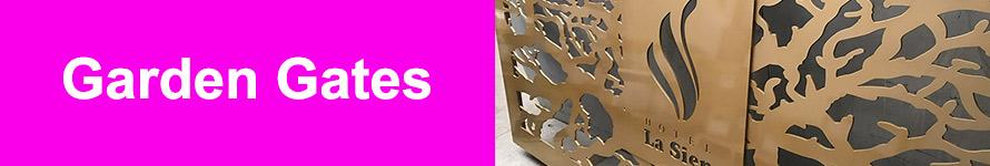 Decorative laser cut garden gate designs