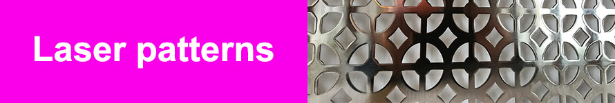 Decorative laser cut pattern styles