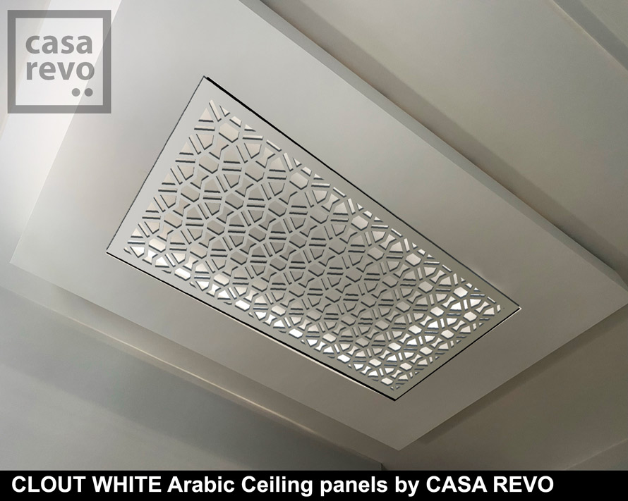 CLOUT WHITE arabic ceiling panels