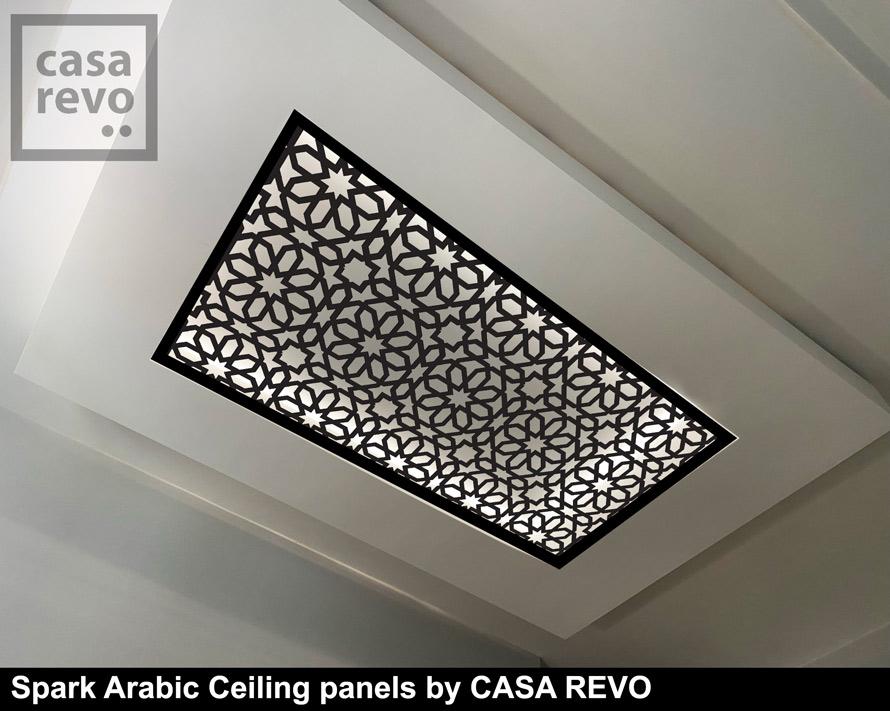 Spark Arabic Ceiling panel designs by CASAREVO